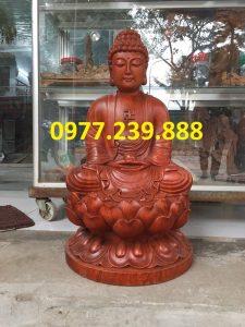 tượng phật thích ca bằng gỗ hương 30cm