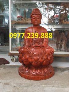 tượng phật thích ca bằng gỗ hương 50cm