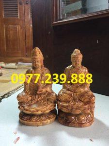 tượng phật thích ca bằng gỗ huyết long 50cm
