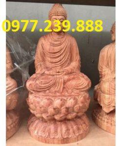 tượng phật thích ca gỗ hương 60cm