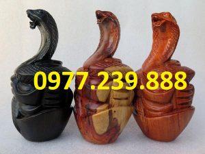 tượng rắn gỗ hương nam phi