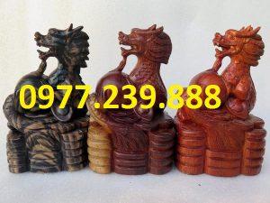 tượng rồng bằng gỗ 20cm