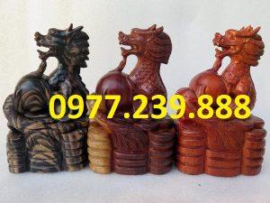 tượng rồng bằng gỗ 30cm