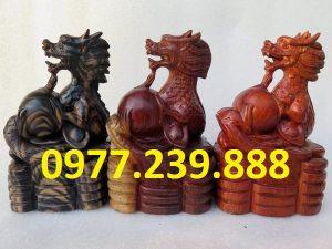 tượng rồng bằng gỗ dài 20cm