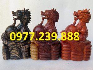 tượng rồng bằng gỗ dài 30cm