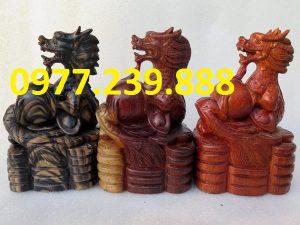 tượng rồng bằng gỗ hương đỏ