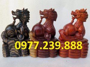 tượng rồng bằng gỗ hương