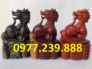 tượng rồng bằng gỗ hương giá rẻ
