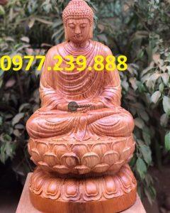 tượng thích ca gỗ hương 20cm