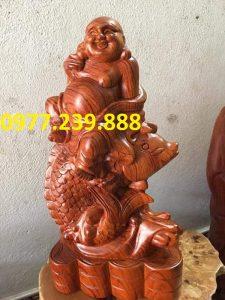 tuong di lac ca chep bang go huong 30cm