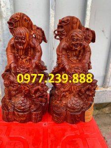 tuong di lac dang tien nhị phuc bang go huong 30cm