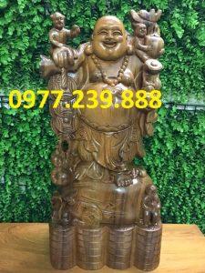tuong di lac ganh tien bang go bach xanh 30cm