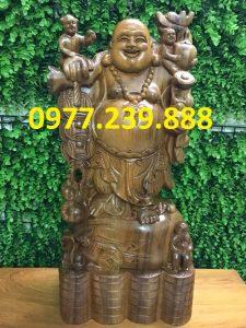 tuong di lac ganh tien bang go bach xanh 50cm