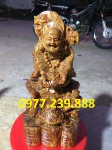 tuong di lac nhi phuc bang go bach xanh 30cm
