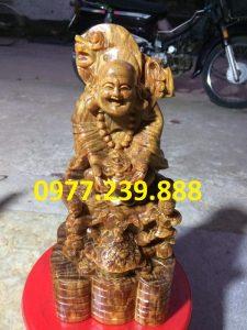 tuong di lac nhi phuc bang go bach xanh 40cm