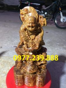 tuong di lac nhi phuc bang go bach xanh 50cm