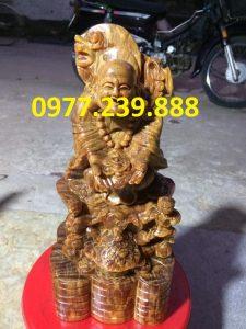 tuong di lac nhi phuc bang go bach xanh 60cm