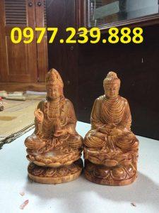 tuong phat bang go huyet long 40cm