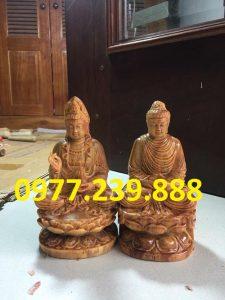 tuong phat bang go huyet long 60cm
