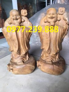 tuong phat chuc phuc bang go bach xanh 40cm