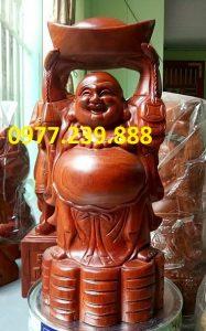 tuong phat dang vang go huong 30cm