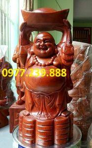 tuong phat dang vang go huong 40cm