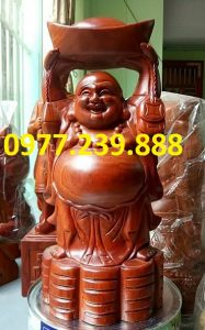 tuong phat dang vang go huong 50cm