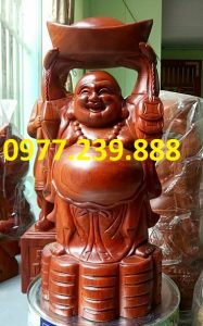 tuong phat dang vang go huong 60cm