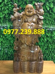 tuong phat di lac bang go bach xanh 30cm