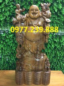 tuong phat di lac bang go bach xanh 40cm