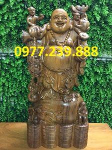 tuong phat di lac bang go bach xanh 50cm