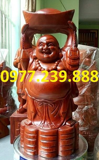 tuong phat di lac dang vang go huong 60cm