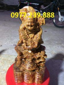 tuong phat di lac nhị phuc go huyet long 40cm