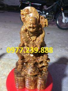 tuong phat di lac nhị phuc go huyet long 60cm