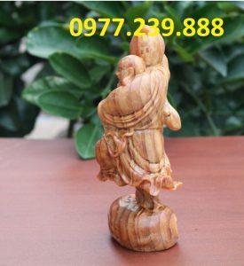tuong phat di lac vac dao bang go huyet long 30cm