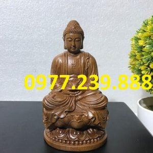 tuong phat ong bang go bach xanh 15cm