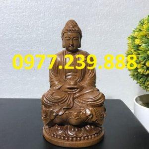 tuong phat ong bang go bach xanh 20cm