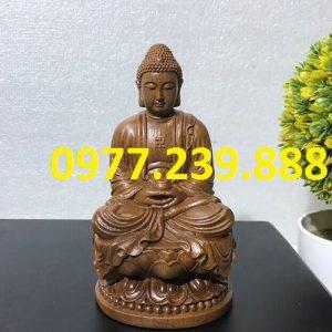 tuong phat ong bang go bach xanh 25cm