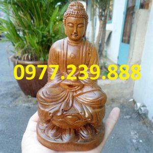tuong phat ong bang go bach xanh 40cm