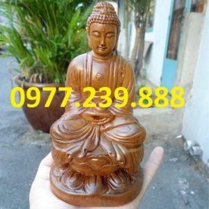 tuong phat ong bang go bach xanh 50cm
