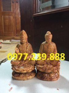 tuong phat ong bang go huyet long 20cm