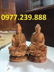 tuong phat ong bang go huyet long 30cm