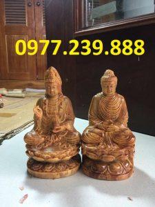 tuong phat ong bang go huyet long 50cm