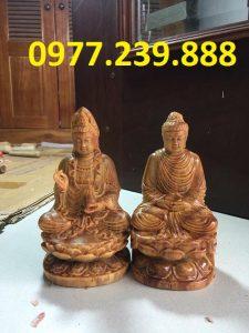 tuong phat ong bang go huyet long 60cm