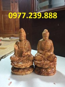 tuong phat ong go huyet long 40cm