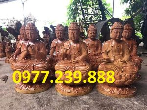tuong phat ong thich ca bang go huong 15cm