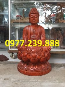 tuong phat ong thich ca go huong 30cm
