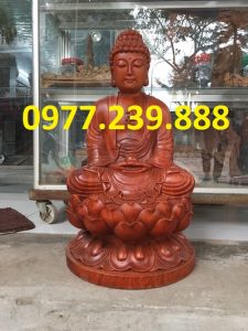 tuong phat ong thich ca go huong 40cm