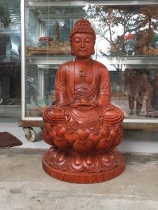 tuong phat ong thich ca go huong 50cm