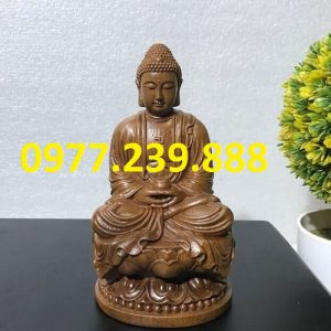 tuong phat thich ca go bach xanh 20cm